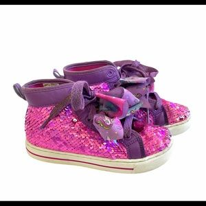 JoJo Siwa 13 Flip Sequin Bow High Top Sneakers